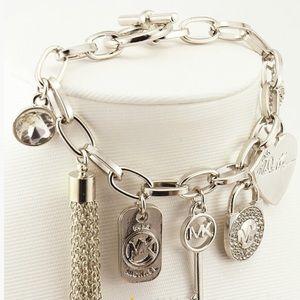 MK 7 Alloy pendants bracelet  Silver plated